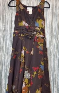 Dresses & Skirts - Brown Floral Dress with Cumberband waist